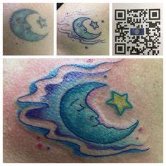 436dbcddac567 Twenty year old moon revitalized!  #dragonmoontattoo#tattooedwomen#oldtattoosreworked#tattoosbymickbeasley Dragon  Moon. Dragon MoonTattoo StudioTattoo ...