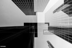 Stock Photo : Low Angle View Of Modern Office Buildings