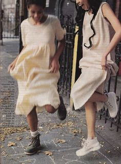 90's Sassy magazine. Thanks for the suggestion it was quite entertaining! Here the loose dresses of the 90's that always seemed little house on the prairie to me mixed with ankle boots and high top sneakers