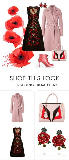 passion for red by yaninna-diaz on Polyvore featuring moda, Dolce&Gabbana, ESCADA and Fendi