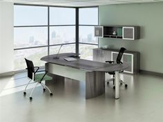 Medina is our new laminate line with almost the exact components as our Napoli wood collection for half the price!  http://www.crownfurniture.com/?showProduct=desks_modern.htm