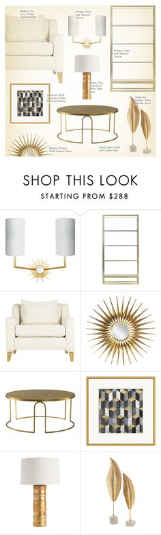 """Gold Living Room Decor"" by kathykuohome ❤ liked on Polyvore featuring interior, interiors, interior design, home, home decor, interior decorating, Ciel, living room, modern and homedecor"
