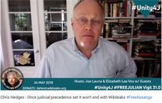 Chris Hedges - Once judicial precedence set it won't end with Wikileaks .The noose they use to hang Julian with, will be the same noose they use to hang you. We have been trying to educate the sheeple about that right from the beginning.
