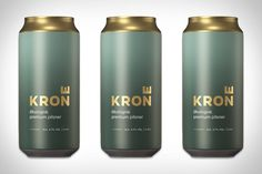 Brewed using only four organic raw materials, this Norwegian Pilsner is a light, balanced option. The simplicity of the beer's recipe is reflected in the can design, opting for clean, bold packaging that stands out. The cans feature a matte. Water Packaging, Beverage Packaging, Coffee Packaging, Coffee Branding, Bottle Packaging, Brewery Logos, Beer Brewery, Pet Bottle, Design Graphique
