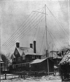 Hiram Percy Maxim's Ham Radio Station in 1915