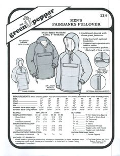 Items similar to Green Pepper Patterns Fairbanks Pullover Pattern Mens Coat Pattern Womens Coat Pattern Mens Jacket Pattern Hoodie Sewing Pattern GP 124 on Etsy Mens Sewing Patterns, Sewing Men, Coat Patterns, Free Sewing, Sewing Clothes, Men Clothes, Vogue Patterns, Clothes Patterns, Vintage Patterns