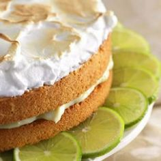 Key Lime Meringue Cake Recipe