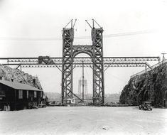 The Port Authority of New York and New Jersey celebrates the anniversary of the October 1931 opening of the George Washington Bridge. Washington Heights, George Washington Bridge, Architecture Details, New Jersey, Vintage Photos, New York City, Nyc, Travel, Image