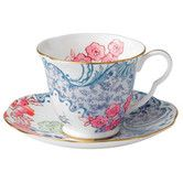 Found it at Wayfair - Harlequin Butterfly Bloom Blue Peony Cup and Saucer