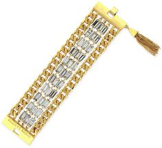 Vince Camuto Gold-Tone Baguette Chain Tassel Bracelet on shopstyle.com Tassel Bracelet, Bracelets, Baguette, Vince Camuto, Tassels, Personalized Items, Chain, Gold, Jewelry