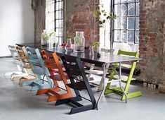 We love the @STOKKE® Tripp Trapp chair for its long life, AMAZING design and color choices! #babygear