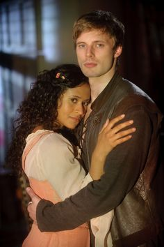 Arthur and Gwen (Bradley James and Angel Coulby) #Merlin
