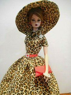 OOAK fashion for Barbie by Mary fits Silkstone Vintage Fashion Royalty also Barbie Fashion Royalty, Fashion Dolls, Burlesque, Golden Dress, Animal Print Fashion, Princess Outfits, Vintage Barbie Dolls, Wedding Party Dresses, Handmade Clothes