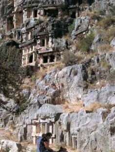 Rock Tombs-Lycia BC IV.-Demre, Antalya by Isa Celik - Civilizations of Turkey - Images - Picture Gallery - Travelers' Stories About Turkey