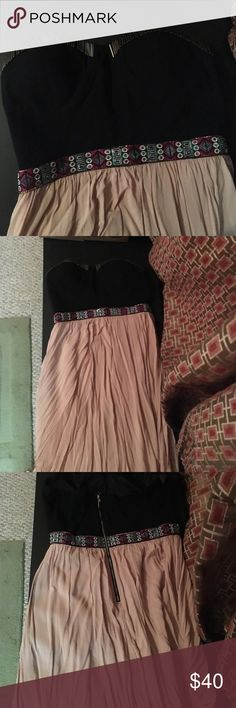 Sweetheart maxi dress Black and cream sweetheart maxi dress from impeccable pig. Gently worn. Dresses Maxi
