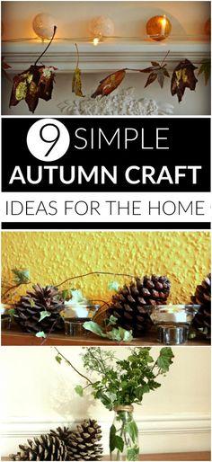 9 simple autumn craf