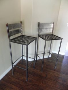 Industrial Metal Bar Stools or Chairs by grafixed on Etsy, $200.00