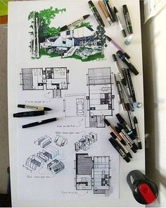 Presentation board by Love the modular concept of the architecture . Architecture Sketchbook, Architecture Student, Art And Architecture, Cultural Architecture, Architecture Presentation Board, Presentation Design, Presentation Boards, Instagram Chat, Sketches Arquitectura
