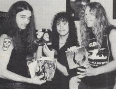Cliff Burton, Kirk Hammett and James Hetfield