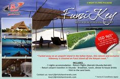 Authentic Kenya: Beach Holiday Resort.  Fly Package from $965 pp sharing including flights.  www.rickshawtravels.com
