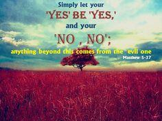 Matthew 5:37