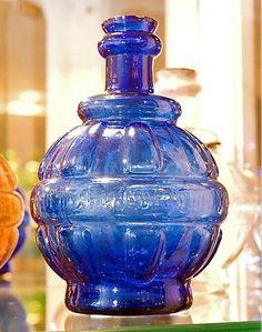 Blue glass fire grenade