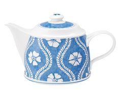 Théière BLUEFLOWERS porcelaine, bleu et blanc - 1.25L | Westwing Home & Living