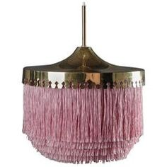 Silk Fringe Brass Pendant Lamps by Hans-Agne Jakobsson - Pretty doesn't begin to say it... ($2800 on 1st dibs)