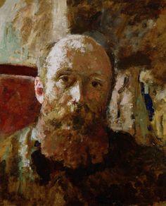 Edouard Vuillard (French 1868–1940) [Post-Impressionism, Les Nabis] Self-portrait. [Date: ????]