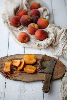 roasted peach sherbet