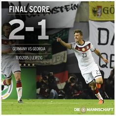 #DieMannschaft defeat Georgia 2-1 to  progress to @UEFAEURO. The better team got the win in the end. #GERGEO