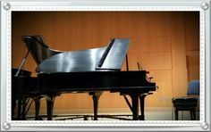 4/19. Enjoying the piano faculty recital on campus.