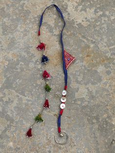 Ethnic necklace with a string of Turkoman tassels by EthnicTree