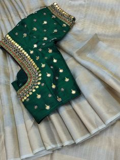 Saree Blouse Designs: Latest & Evergreen collections of 2019 Wedding Saree Blouse Designs, Pattu Saree Blouse Designs, Best Blouse Designs, Jute, Maggam Work Designs, Trendy Sarees, Blouse Patterns, Pattern Blouses For Sarees, Work Blouse