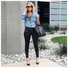 "KERRently by Courtney Kerr on Instagram: ""Beaded bandanas & Loubs can spice up anything // 04.01.16 // Shop today's look @liketoknow.it www.liketk.it/2hWbi #liketkit // #KERRentlyWearing"""