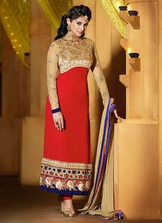 Fantastic Jennifer Winget Georgette Churidar Suit www.ethnicoutfits.com Email : support@ethnicoutfits.com What's app : +918141377746 Call : +918140714515