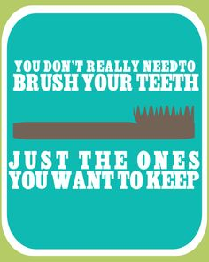 Brush Your Teeth Printable Kids Bathroom