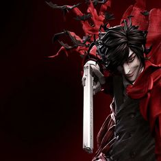 Figurama's latest Alucard Elite Exclusive statue depicts this iconic scene of the vampire as he calls upon the full lethal power of his Familiar Control. Hellsing Alucard, Pop Culture Art, 3d Artist, American Comics, Ova, Doujinshi, Beast, Poses, Statue