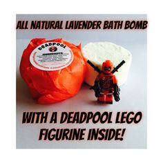DeadPool Lego Adults Kids Bath Bomb - Toy Lavender Essential Oil Bath Bomb Fizzie - Superhero Stocking Stuffer - Funny Stocking Stuffer