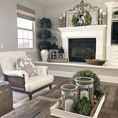 Happy Monday friends! It's another beautiful day! I thought I would share this view of my family room with the sweet ladies for #MyNeutralMonday