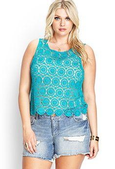 Ornate Crochet Top | FOREVER21 PLUS - 2000068997