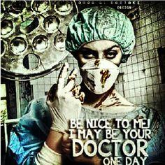Future doctor. Little disturbing.....