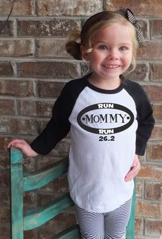 Run Mommy Run 26.2 Marathon Supporter Raglan Shirt on Etsy, $19.99
