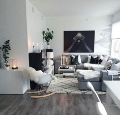 also sharing 1 living room, 23 styles! Home Decor Inspiration, Home Living Room, Apartment Interior, Apartment Living Room, Home Decor, House Interior, Apartment Decor, Room Decor, Living Room Designs