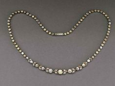 Lovely 1930s Art Deco rhinestone necklace, Czechoslovakia - Glitzmuseum