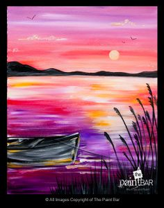 Chatham Pier Sunset Painting - Jackie Schon, The Paint Bar