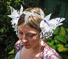 faerie head dress | Faerie Queen Bridal Headdress by littlewingfaerieart on Etsy
