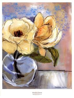 Evive Designs Magnolia Perfection II by Marina Louw Painting Print Painting Frames, Painting Prints, Fine Art Prints, Framed Artwork, Wall Art, Naive Art, Watercolor Flowers, Watercolour, Flower Art