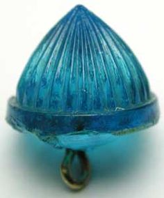 Antique blue glass button.