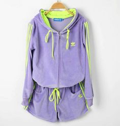 ADIDAS ORIGINALS VELVET HOODED WITH PANTS CASUAL SUIT $159